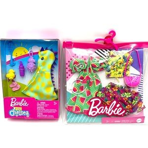 NEW - Chelsea BARBIE DOLL clothing 2 pack sets